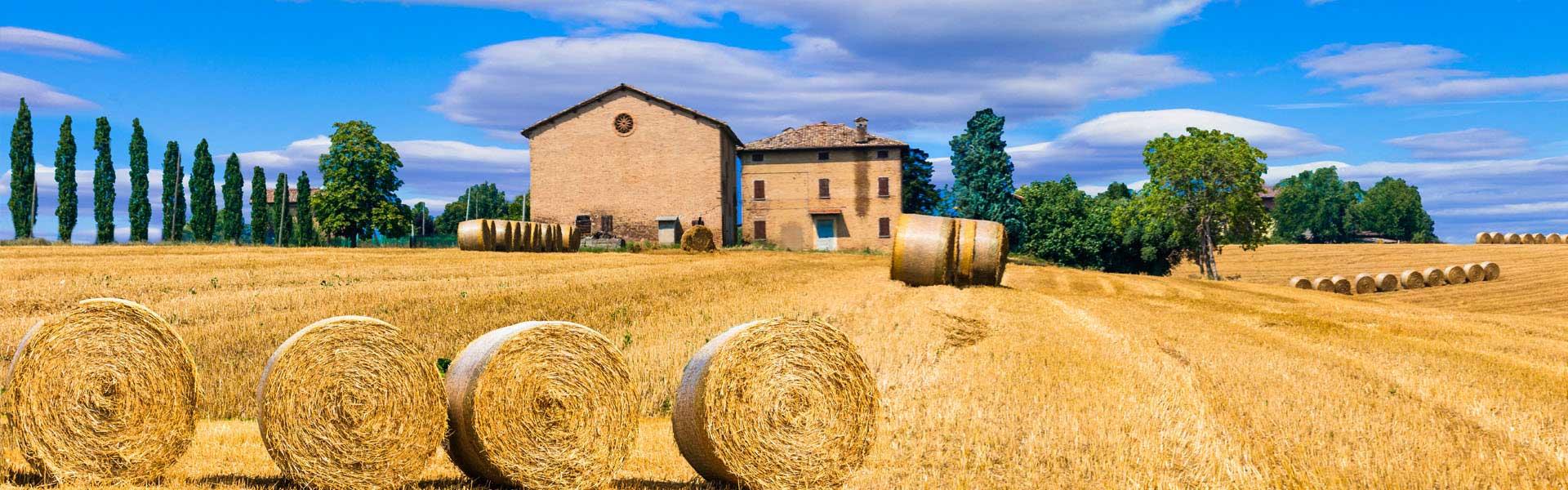 Strohballen in der Toskana