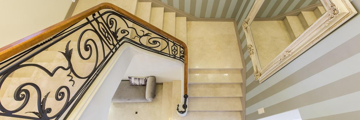 Luxuriöses Treppenhaus
