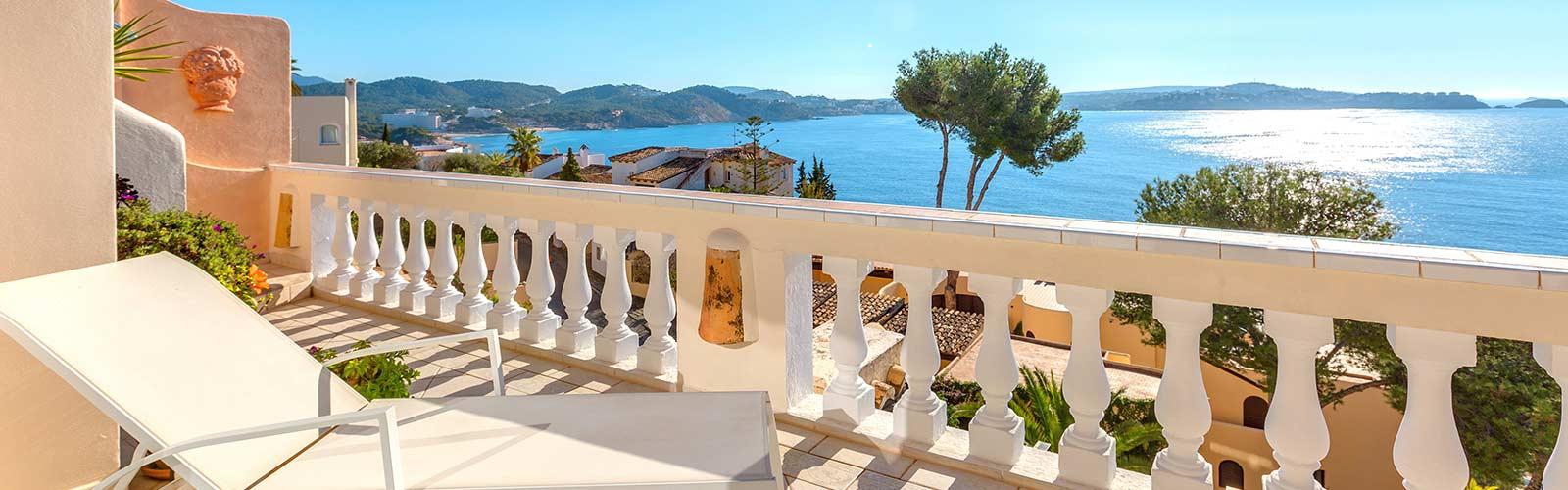 Meerblick vom Balkon auf Mallorca.