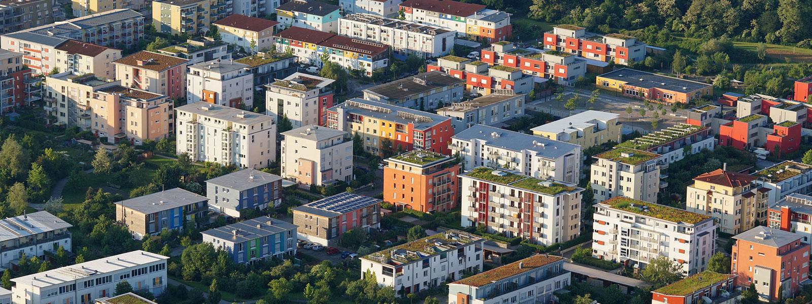 Luftaufnahme Wohnsiedlung