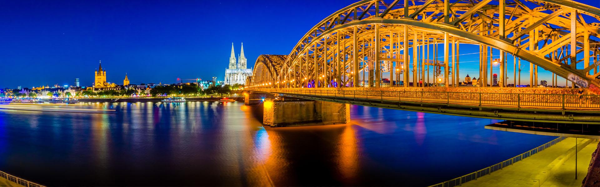 Brücke in Köln am Rhein