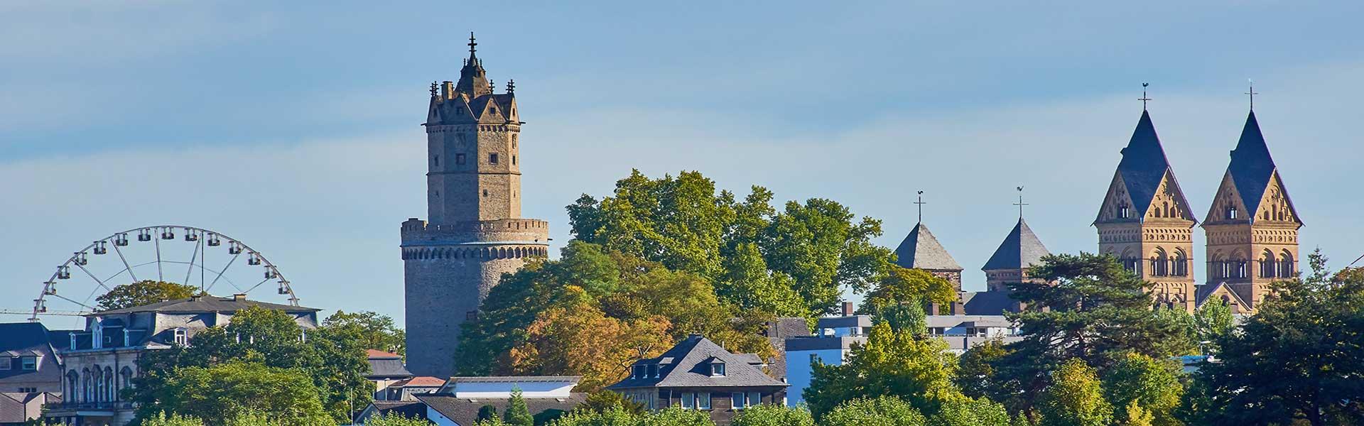 Panorama Andernach mit Liebfrauenkirche