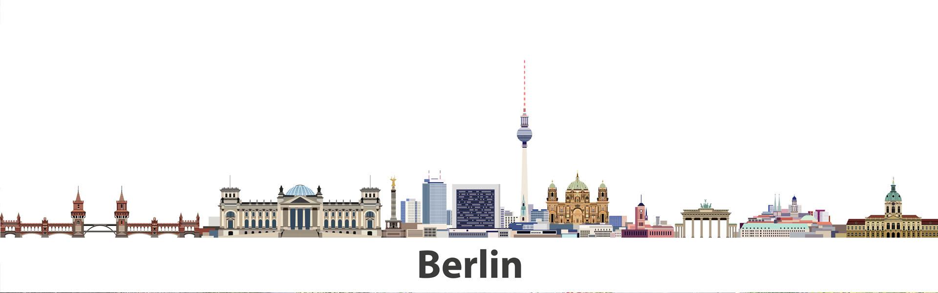 Verschiedene Wahrzeichen von Berlin