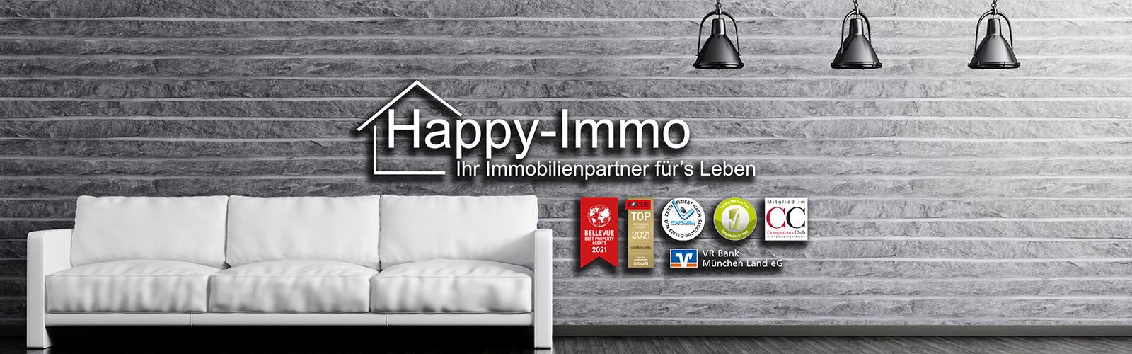 Happy Immo GmbH Verkauf und Vermietung & Kauf und Miete von Wohnung, Haus, Grundstück, Büro, Einzelh