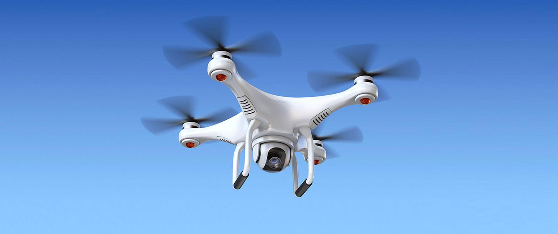 schwebende Drohne