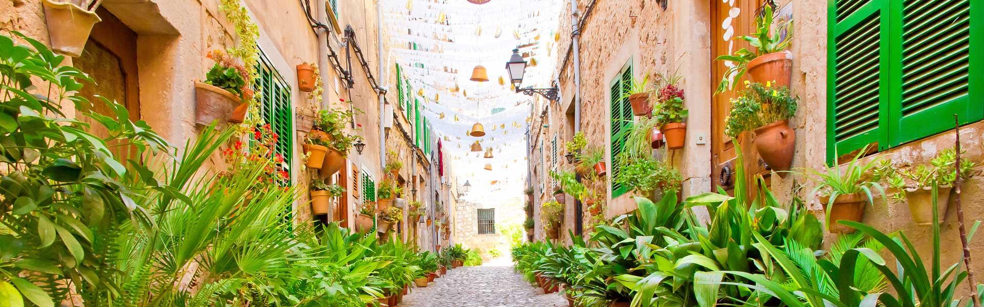 Hausfassaden in Mallorca