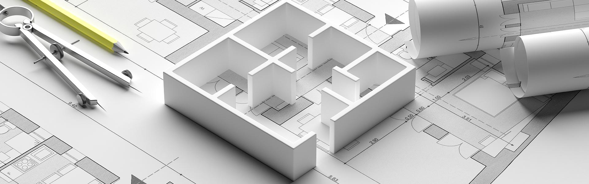 Grundrisse einer Immobilie