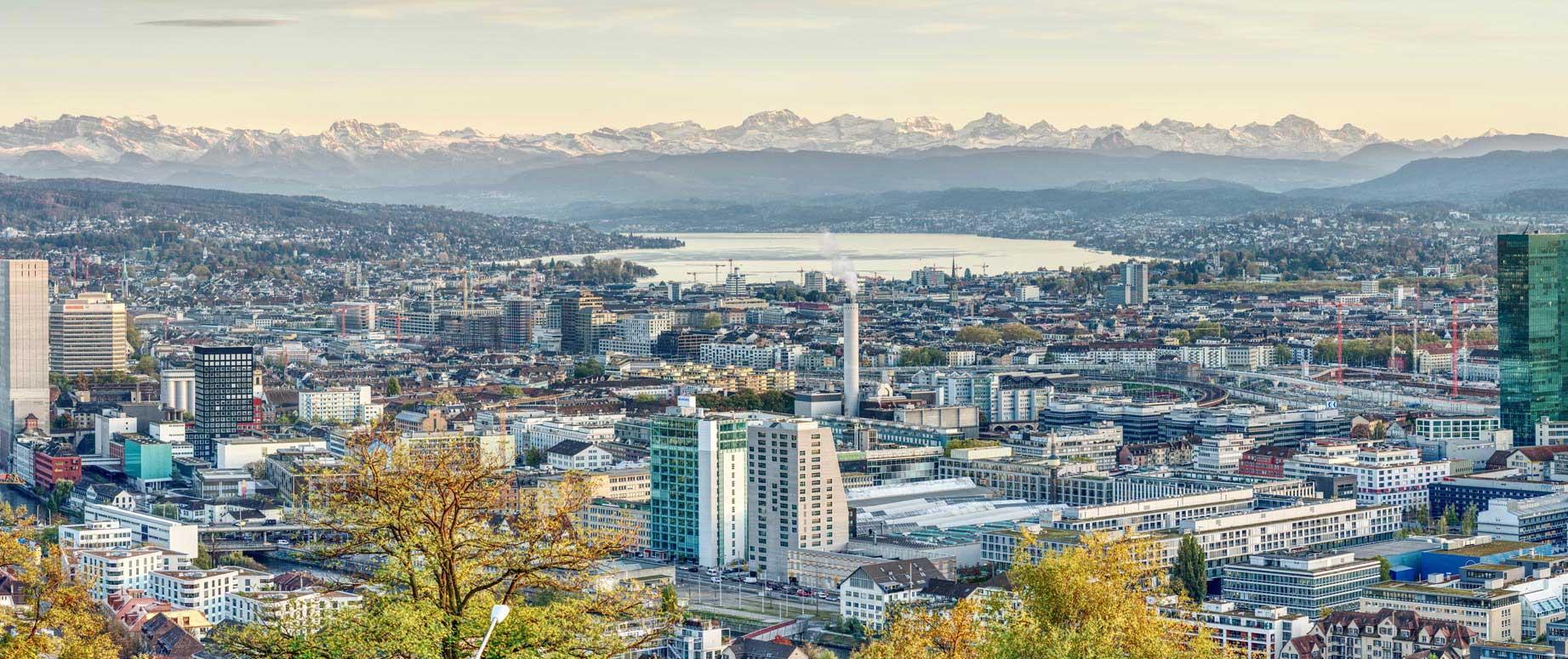 Luftansicht Zürich