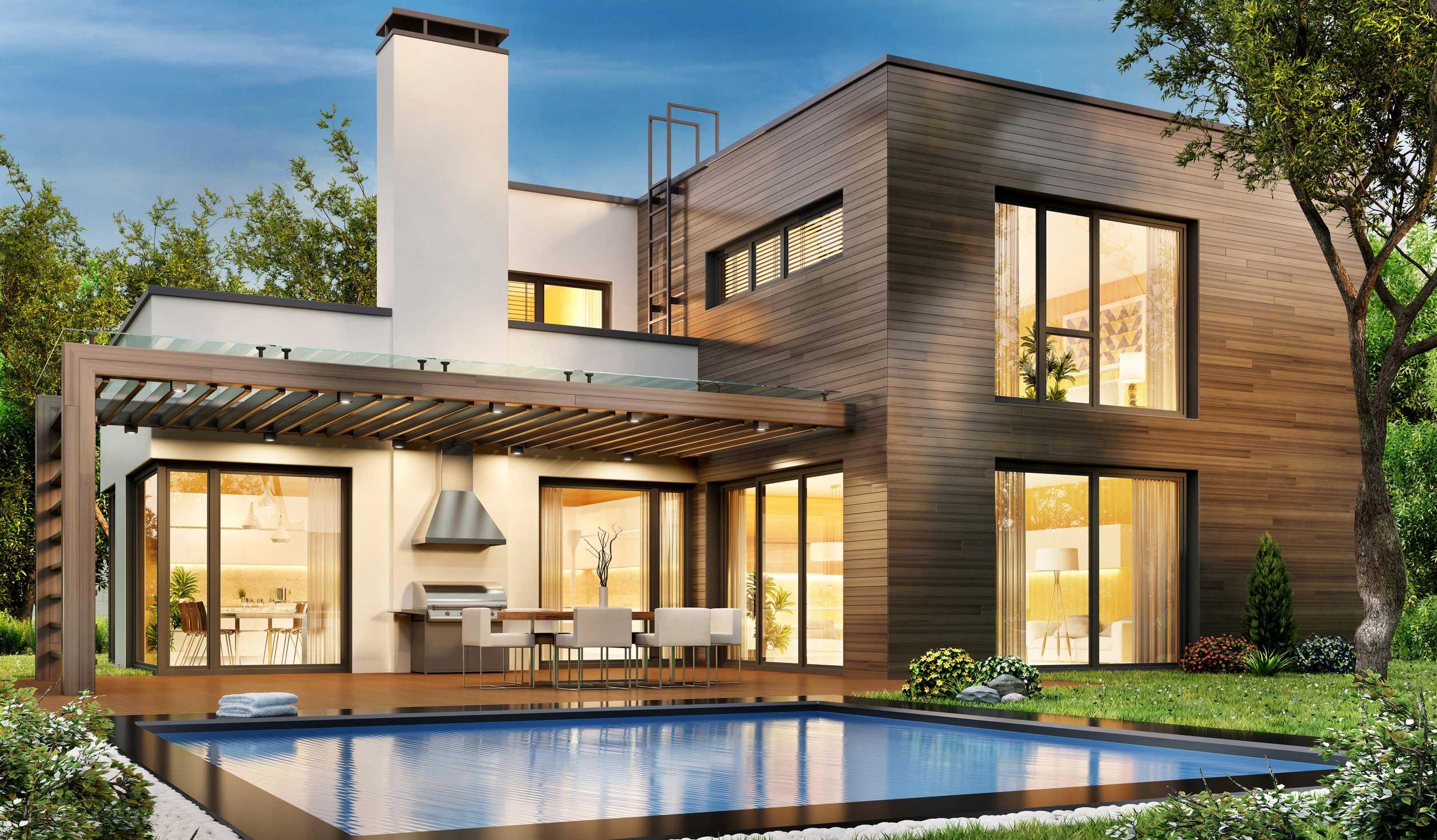 Modernes Haus mit Pool