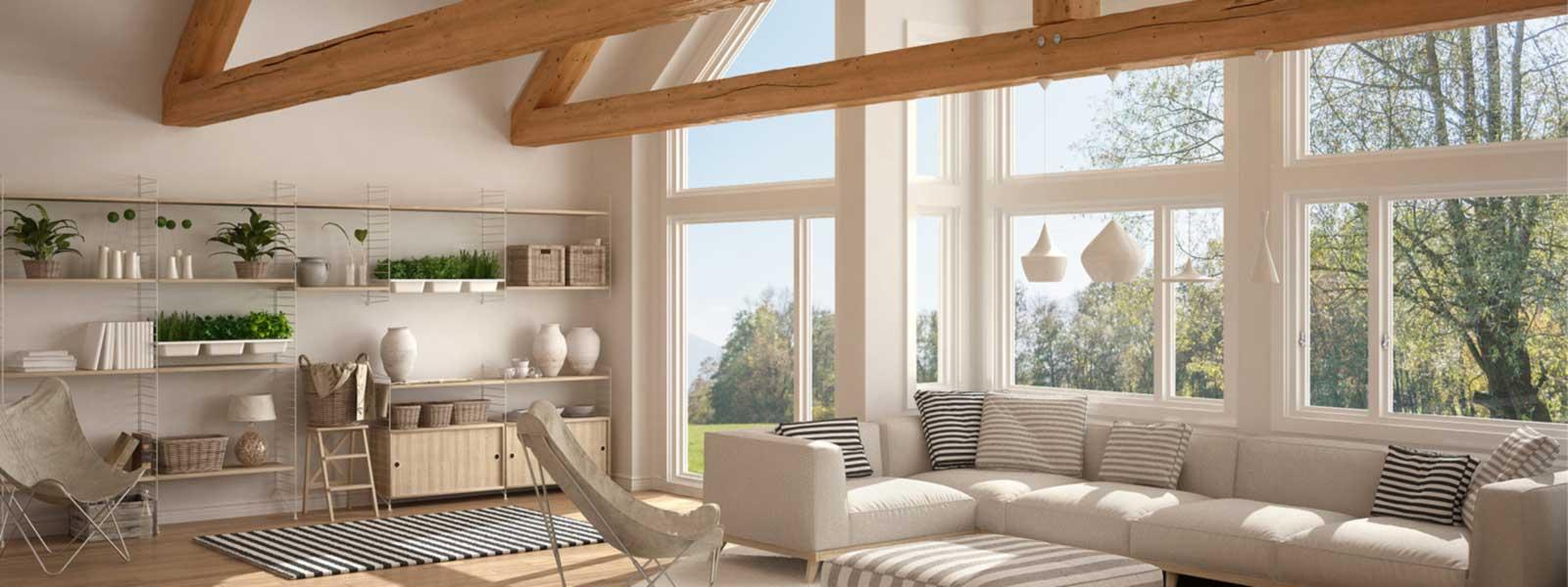Helle Wohnung mit großer Fensterfront