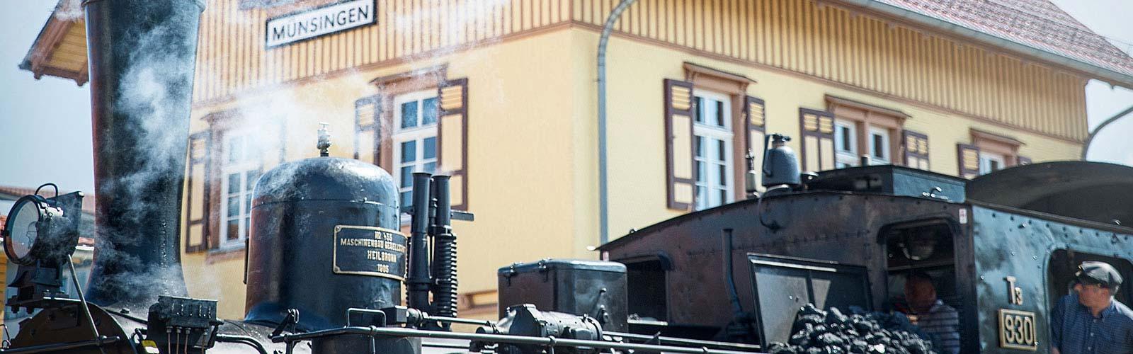 Dampflok-Bahnhof