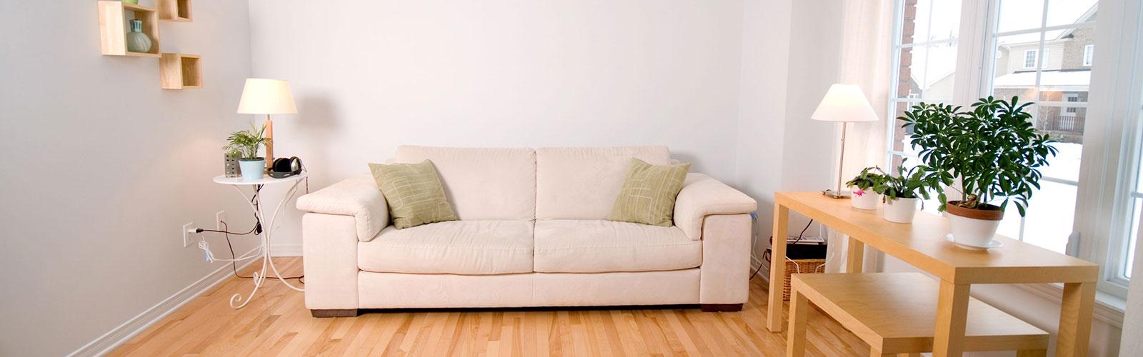 Wohnzimmer helle Couch
