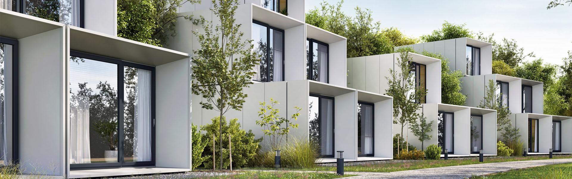 Haus mit Glasfront