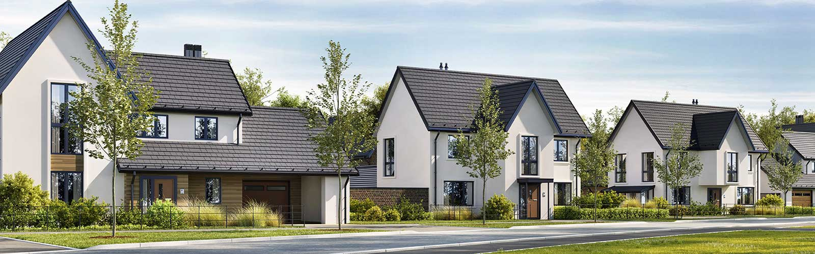 3 moderne Häuser